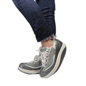 Skechers Silver & Pink Shape-Ups Sneakers